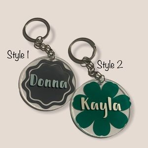 HANDMADE by me acrylic keychains 4.99 shipping